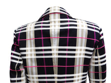 Burberry Check Tailored Jacket with Magenta Stripe, UK12-14