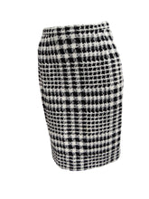 Ungaro Vintage Two Tone Skirt Suit in Houndstooth and Plaid, UK10-12