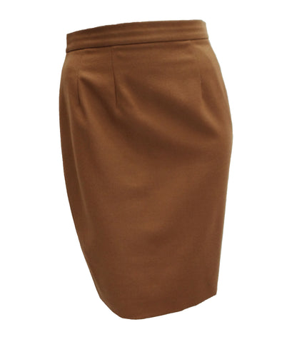 Oliver Pencil Skirt in Camel Wool, UK12