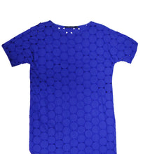 Sofie D'Hoore Sapphire Blue Cut-out Summer Shift Dress, UK12