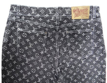 Louis Vuitton Vintage Monogrammed Jeans, UK10