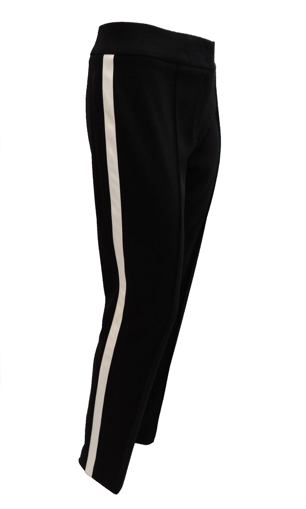 Escada Straight Leg Trousers with White Stripe, UK12