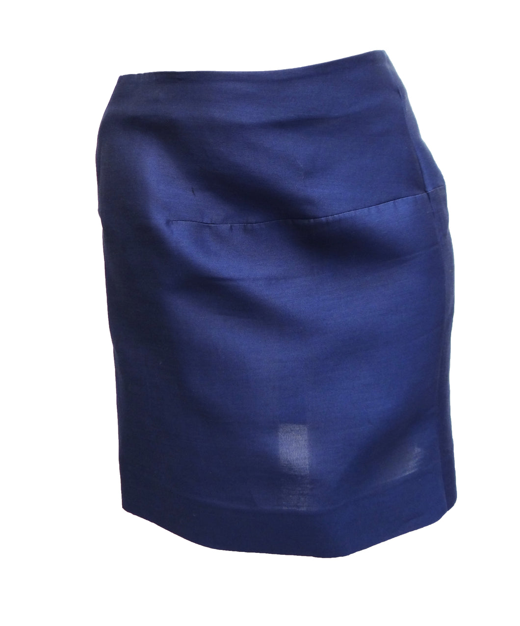 Marni Mini Skirt in Royal Blue Organza, UK8-10