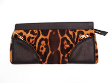 Yves Saint Laurent Clutch bag in Leopard Print Pony Skin
