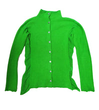Heart HaaT Buttoned Knit Top in Bright Green, UK10