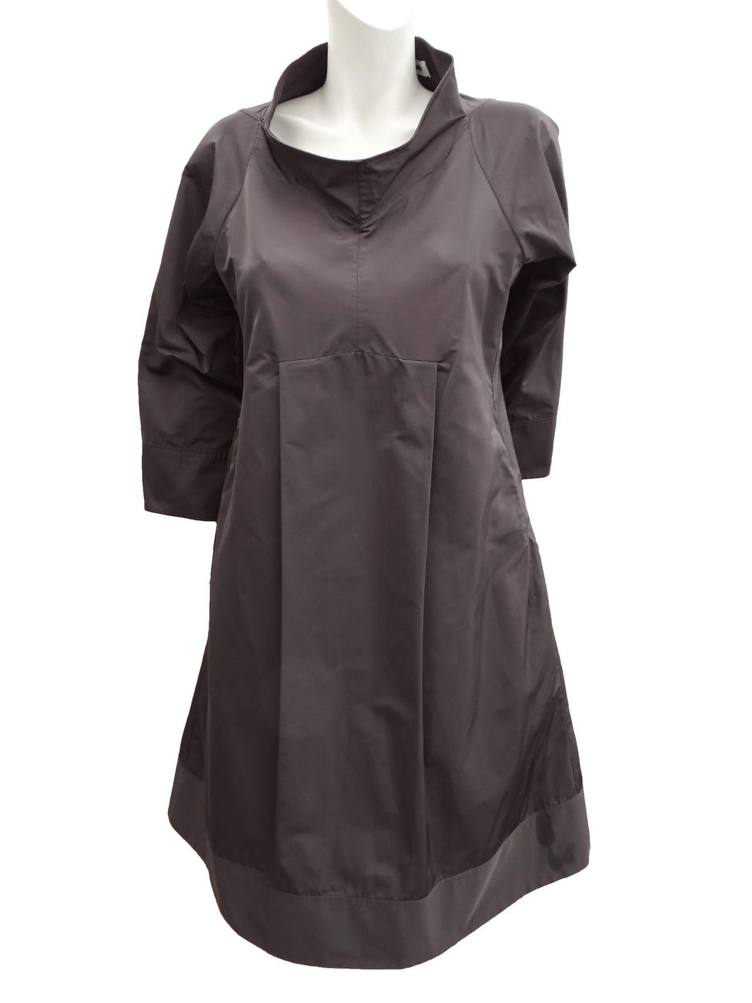 Jil Sander Trapeze Dress in Charcoal Grey, UK12