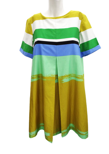 Marimekko Summer Trapeze Dress in Striped Cotton, UK10-12