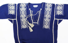 Isabel Marant Etoile Embroidered Tunic Dress in Navy Blue, UK10-12