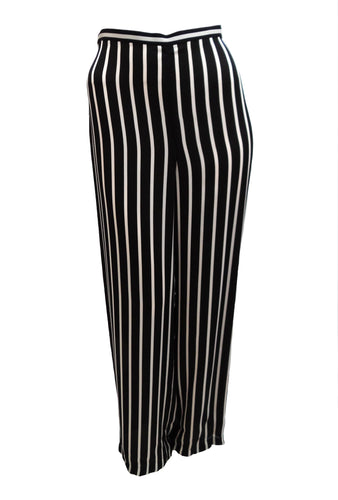 Ralph Lauren Silk Palazzo Pants with Vertical Stripe, UK12