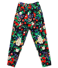 Adrienne Vittadini Vintage Black Cotton Trousers with Fruit & Flower Print, UK10