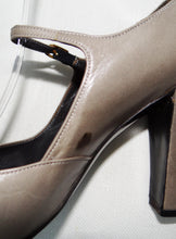 Vintage Christian Dior Dove Grey Mary Jane Heels c.1970s, UK3.5-4
