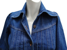 Vintage Denim Short Sleeved Shirt with Belt, c.1970s, UK8-10