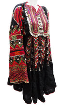 Vintage Afghani Embellished Tribal Dress, early 1990s
