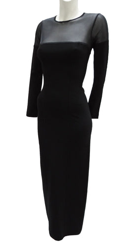 Herve Leger Long Black Evening Dress, UK10