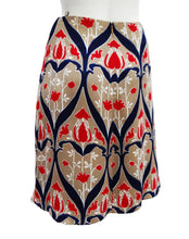 Prada Printed Skirt with Floral Motif, UK8