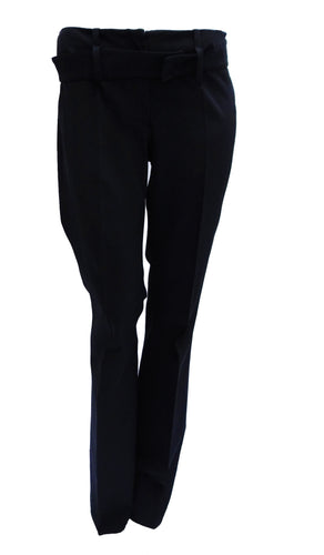 Prada Low-Waisted Flared Black Trousers, UK10