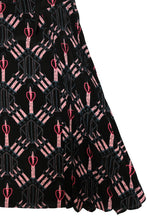 Valentino Love Blade Print Silk Dress, UK12