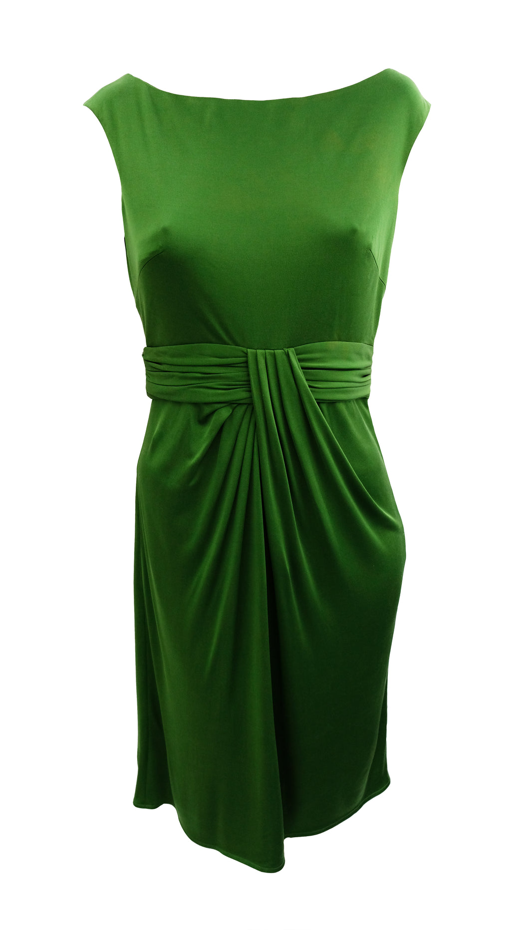 Issa Day Dress in Green Silk Jersey, UK12