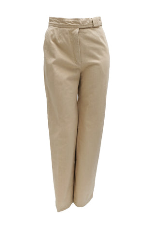 Max Mara Natural Denim Wide Leg Trousers, UK10