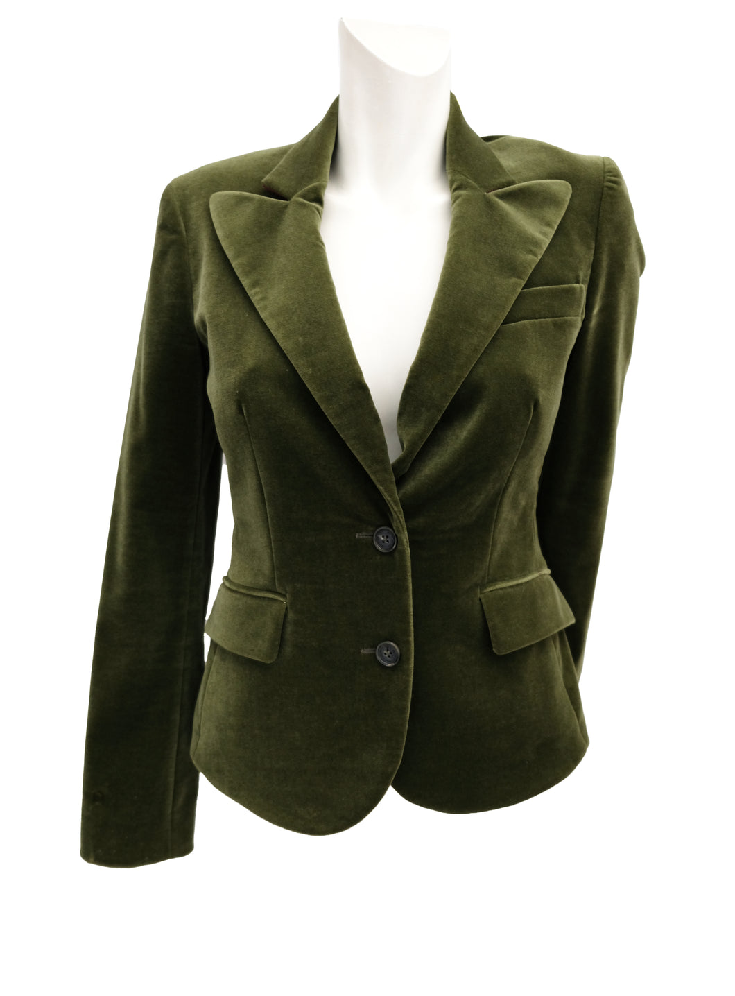 Etro Blazer in Green Velvet, UK10