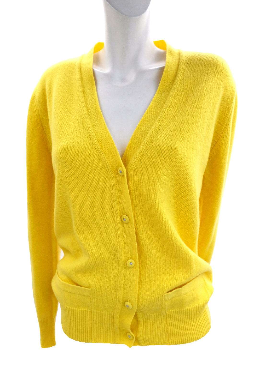 Versace Cardigan in Canary Yellow Wool, UK10-12