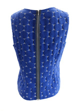 Marni Sleeveless Top with Jacquard Circles in Blue, UK12-14