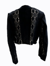 Yves Saint Laurent Vintage Black Crochet Bolero Jacket, UK12-14