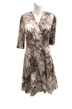 Salvatore Ferragamo Palm Print Cotton Dress, UK10