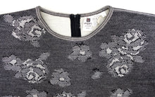 Ungaro Vintage Knitted 2-piece in Grey Wool with Intarsia Flowers, UK10