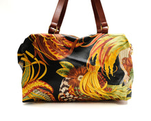 Salvatore Ferragamo Duffel Bag in Feather Printed Coated Canvas, L