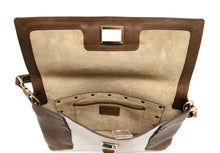 Anya Hindmarch Coffee and Cream Leather Shoulder Bag,  M
