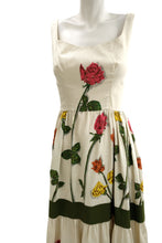 Frank Usher Vintage Sleeveless Tiered Dress in Rose Print, UK10