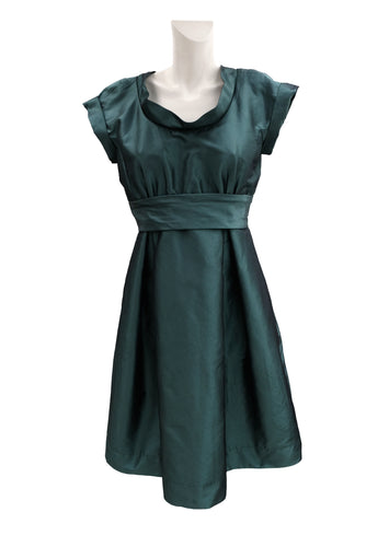 Max Mara Weekend Empire Line Green Party Dress, UK14