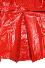 Max Mara Shiny Red Plastic Trench Coat, UK12