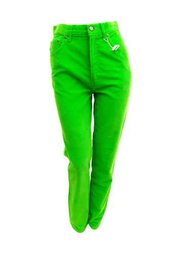 Moschino Jeans in Lime Green Needlecord, UK10