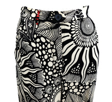Moschino Palazzo Pants in Trippy Monochrome Print, UK12