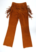 Escada Tan Fringed Suede Jeans, UK10