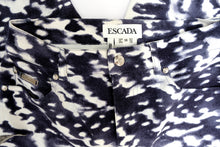 Escada Cropped Jeans in Graphic Bleached Print, UK10