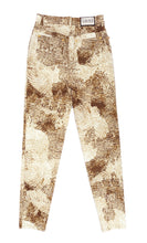 Laurel Jeans in Beige Printed Stretch Cotton, UK10