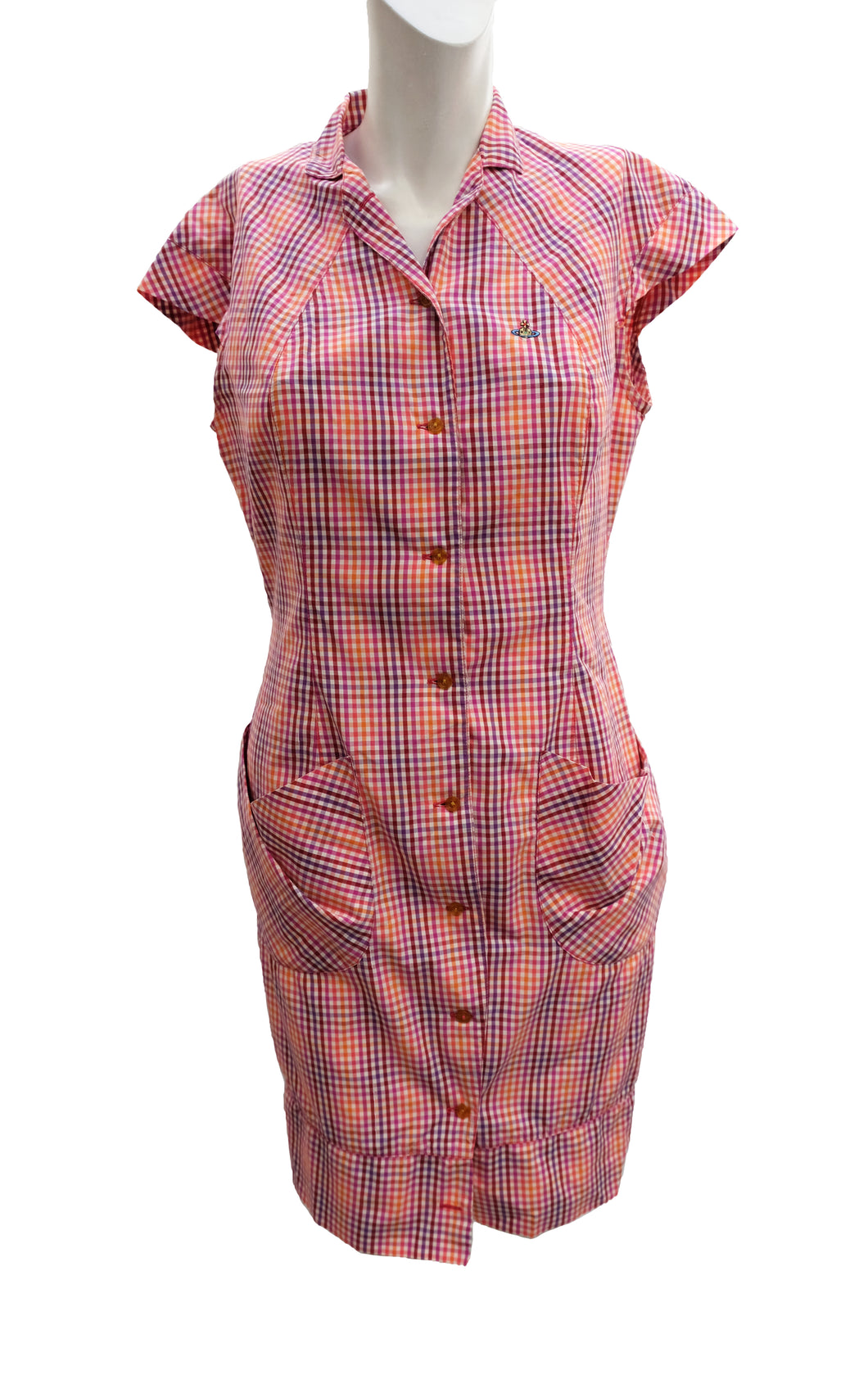 Vintage Vivienne Westwood Checked Day Dress, UK10-12
