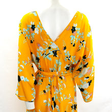 Diane von Furstenberg Kimono Wrap Dress in Yellow Floral Silk, UK10