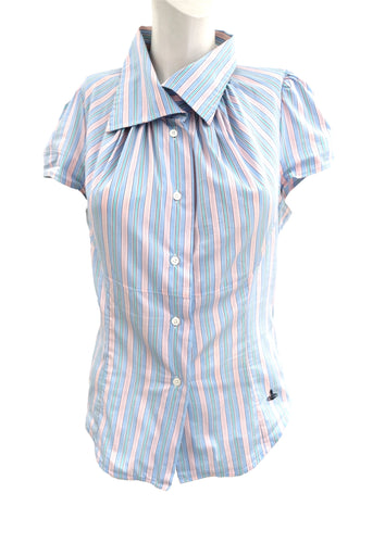 Vivienne Westwood Anglomania Candy Stripe Shirt, UK12