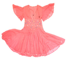 Matthew Williamson Summer Dress in Pink Muslin with Smocked Waist, UK10
