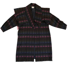 Bill Gibb Vintage Wool Coat with Detachable Cape, UK12