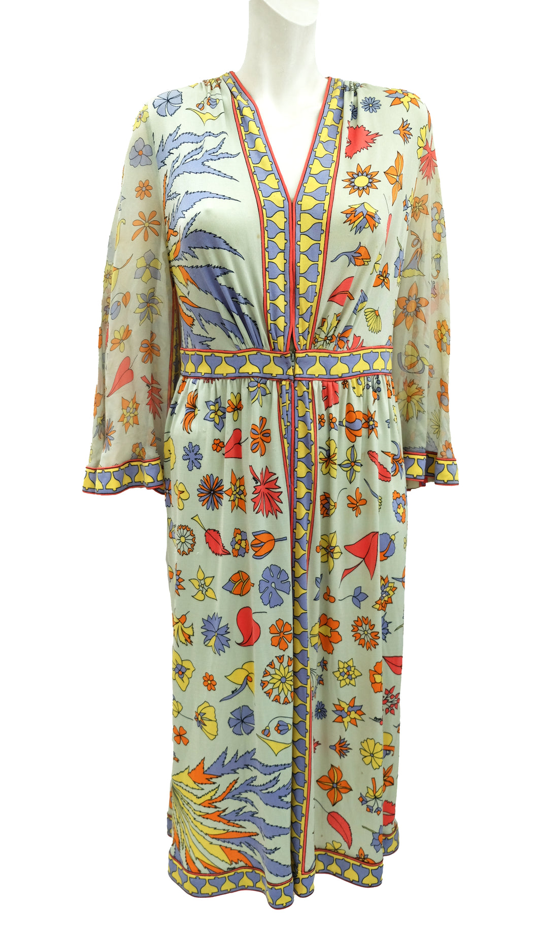 Nan Duskin Vintage Dress in Printed Silk, UK12-14