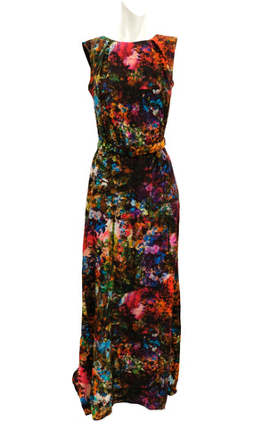 Erdem Evening Gown in Floral Silk with Matching Stole, UK8