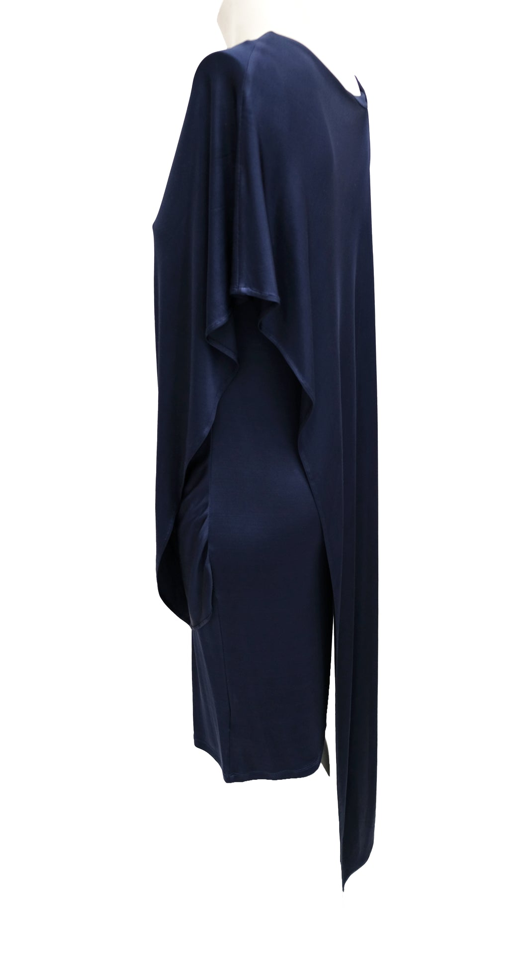 Alexander McQueen Navy Asymmetric Dress, UK12