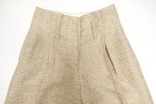 Tailored Wide Leg Trousers in Cream with Black Dots, UK10