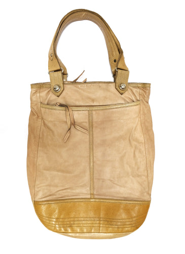 Paul & Joe Sister Soft Beige Leather Tote Bag, L