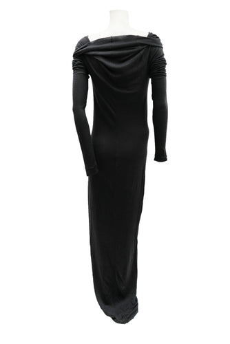 Gareth Pugh Long Tube Dress in Black Cashmere and Silk Knit, UK10